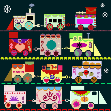 Dala Train     fabric by boris_thumbkin on Spoonflower - custom fabric