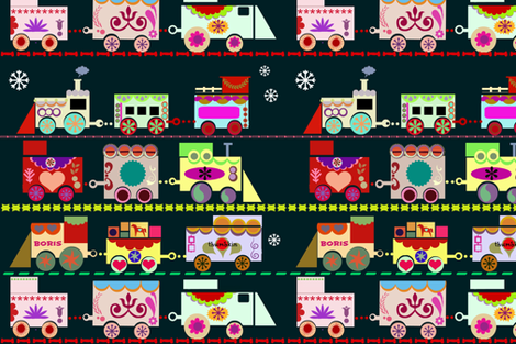 Dala Train     fabric by boris_thumbkin on Spoonflower - custom fabric