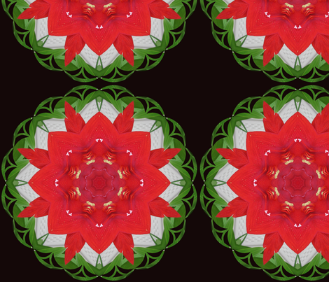 Kaleidoscope Christmas fabric by fayebeasintx on Spoonflower - custom fabric
