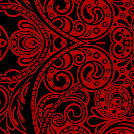 super sized paisley damask