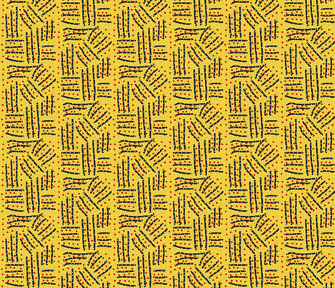 Plowed Fields on Yellow fabric by anniedeb on Spoonflower - custom fabric