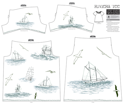 tallships nautical dress fabric by bowsprite on Spoonflower - custom fabric