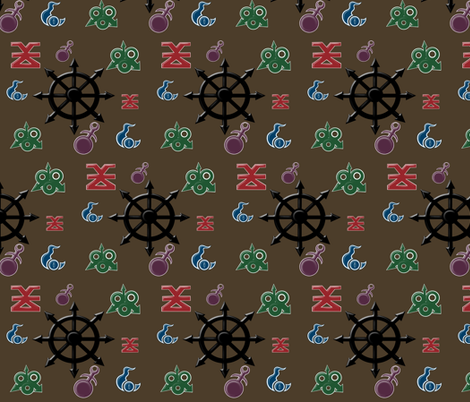 Warhammer Chaos Gods Symbols fabric by makersway on Spoonflower - custom fabric