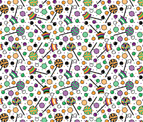 Halloween Sugar Rush fabric by modgeek on Spoonflower - custom fabric