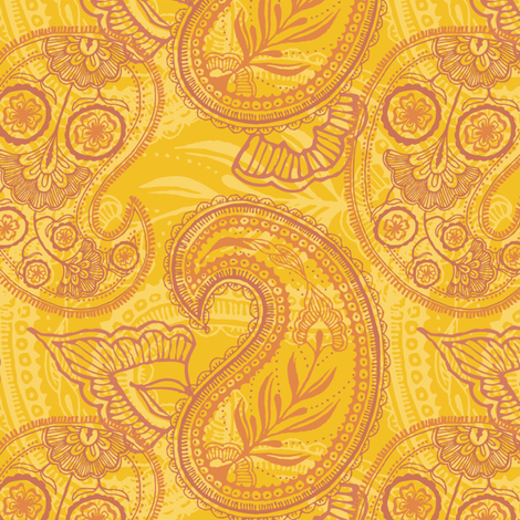 Paisley Juice fabric by penina on Spoonflower - custom fabric