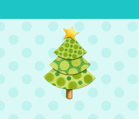 Shabby Chic Holiday Tree on Aqua