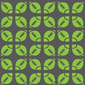 Lime/Gray Football Flower