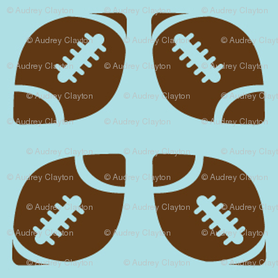 Brown/Blue Football Ribbon