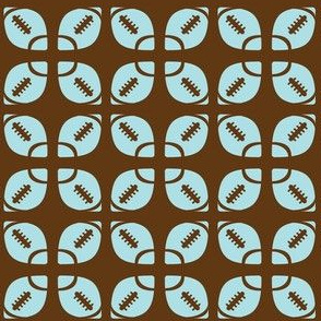 Blue/Brown Football Flower