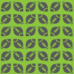 Gray/Lime Football Ribbon