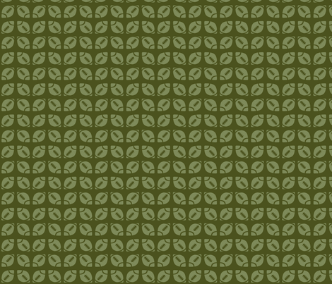 Green Football Ribbon fabric by audreyclayton on Spoonflower - custom fabric