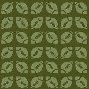 Green Football Ribbon