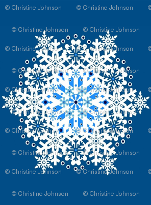 A Wish Upon a Snowflake  blue