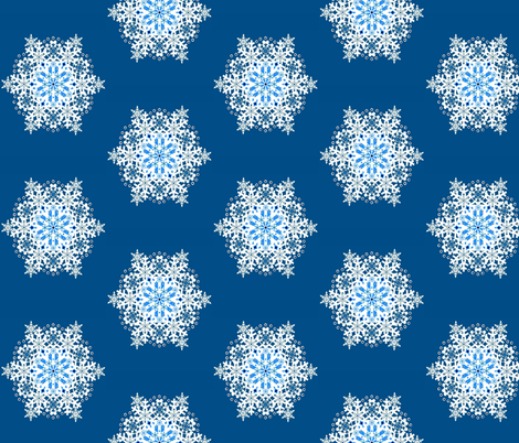 A Wish Upon a Snowflake  blue fabric by paragonstudios on Spoonflower - custom fabric