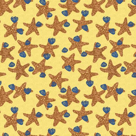 starfish fabric by zandloopster on Spoonflower - custom fabric