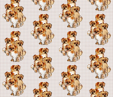 Tibetan Spaniels fabric by dogdaze_ on Spoonflower - custom fabric