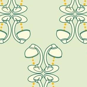gooseneck desk lamp lattice mint green and ivory cream