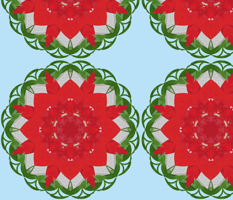 Kaleidoscope Going Christmas fabric by fayebeasintx on Spoonflower - custom fabric