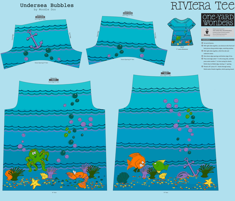 undersea bubbles fabric by woodle_doo on Spoonflower - custom fabric