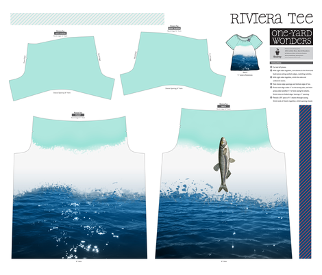 NauticalTee fabric by ravynka on Spoonflower - custom fabric