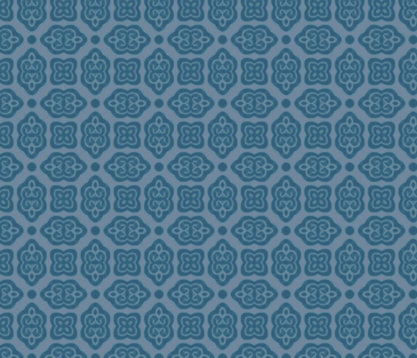 baroque scrolls blue fabric by firemonkey on Spoonflower - custom fabric