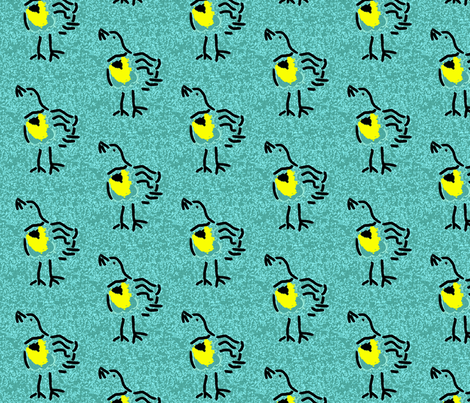 Meadowlark fabric by anniedeb on Spoonflower - custom fabric
