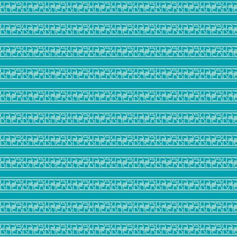 nerds, geeks and stripes turquoise fabric by georgeandgracie on Spoonflower - custom fabric