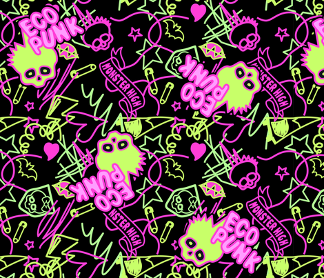 Venu Shirt Pattern Neon fabric by ani_bee on Spoonflower - custom fabric