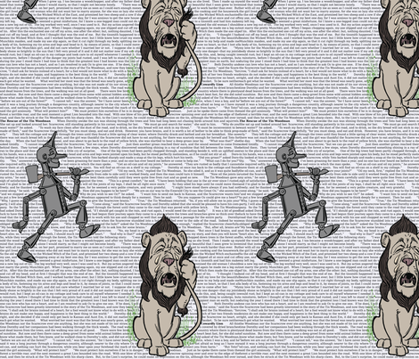 Wonderful Wizard of Oz (Woodsman & Lion) fabric by studiofibonacci on Spoonflower - custom fabric