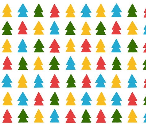 Multicolor Evergreens fabric by emilyhampton on Spoonflower - custom fabric