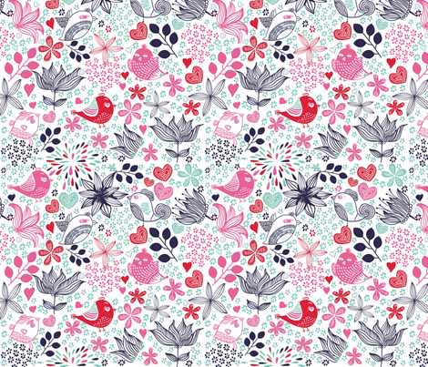 cute doodle birds fabric by anastasiia-ku on Spoonflower - custom fabric