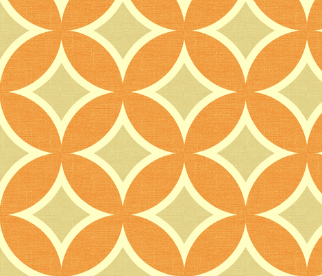 MOD CIRCLE - california crush - linen fabric by marcador on Spoonflower - custom fabric