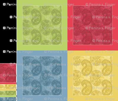 "Paisley Napkin Set (17"" hemmed)"