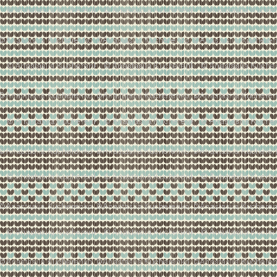 retro knitted pattern in blue and brown