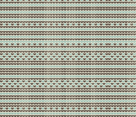 retro knitted pattern in blue and brown fabric by anastasiia-ku on Spoonflower - custom fabric