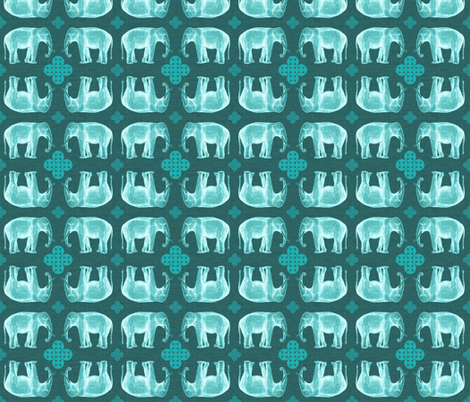 elefante2-linen fabric by marcador on Spoonflower - custom fabric