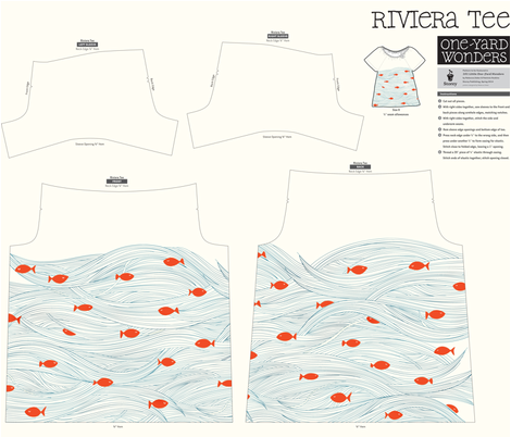 Storey_RivieraTee_-_sleeping_with_the_fishes fabric by celandine on Spoonflower - custom fabric