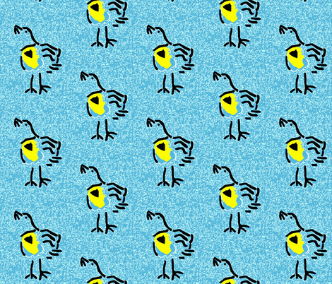 Meadowlark on Shades of Blue fabric by anniedeb on Spoonflower - custom fabric
