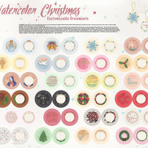 Watercolor Christmas Ornaments DIY Cut &amp; Sew