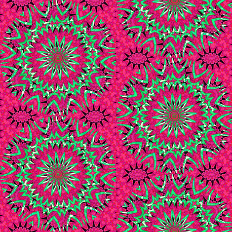 Modern  Snowflakes 10 - Think Pink! fabric by dovetail_designs on Spoonflower - custom fabric