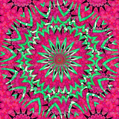 Modern Winter Snowflakes 10 - Think Pink!