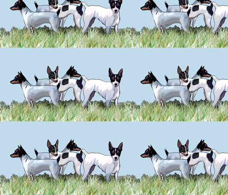 Toy Fox Terriers Group fabric by dogdaze_ on Spoonflower - custom fabric