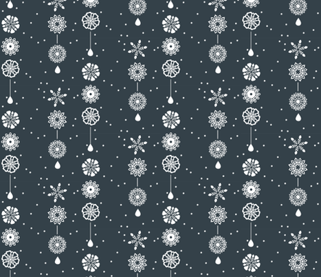Snowflake fabric by policunha on Spoonflower - custom fabric
