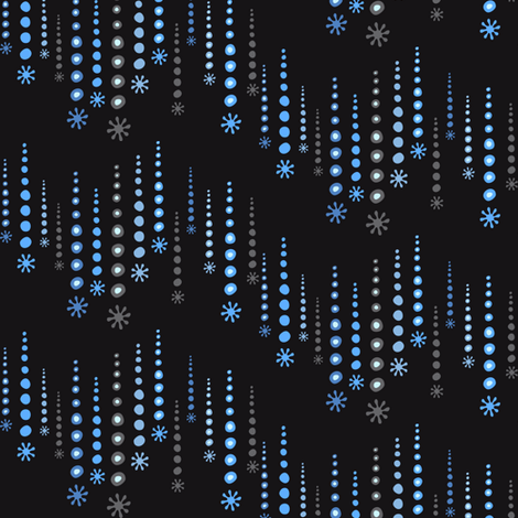 twinkle grey fabric by lilbirdfly on Spoonflower - custom fabric