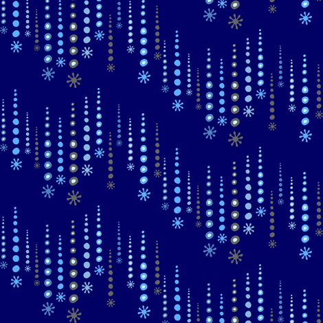 twinkle blue fabric by lilbirdfly on Spoonflower - custom fabric