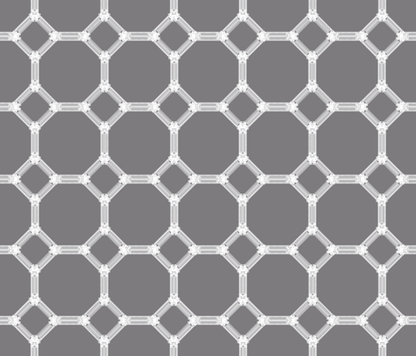 Mosaic Regency in Steel Gray fabric by fridabarlow on Spoonflower - custom fabric
