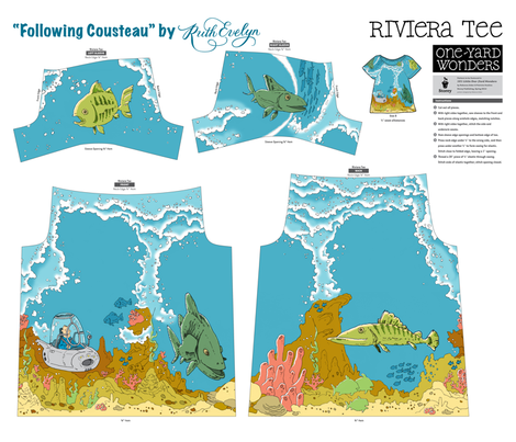 Following Cousteau fabric by ruthevelyn on Spoonflower - custom fabric