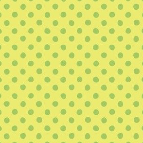 Jardin Loco-Dotty-LtGreen on Yellow