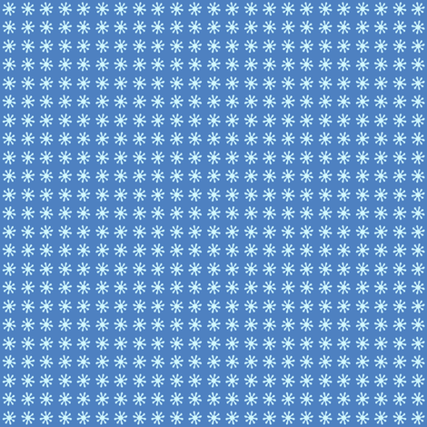 flurry flake blue fabric by lilbirdfly on Spoonflower - custom fabric