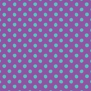 Jardin Loco-Dotty-LtBlue on Purple